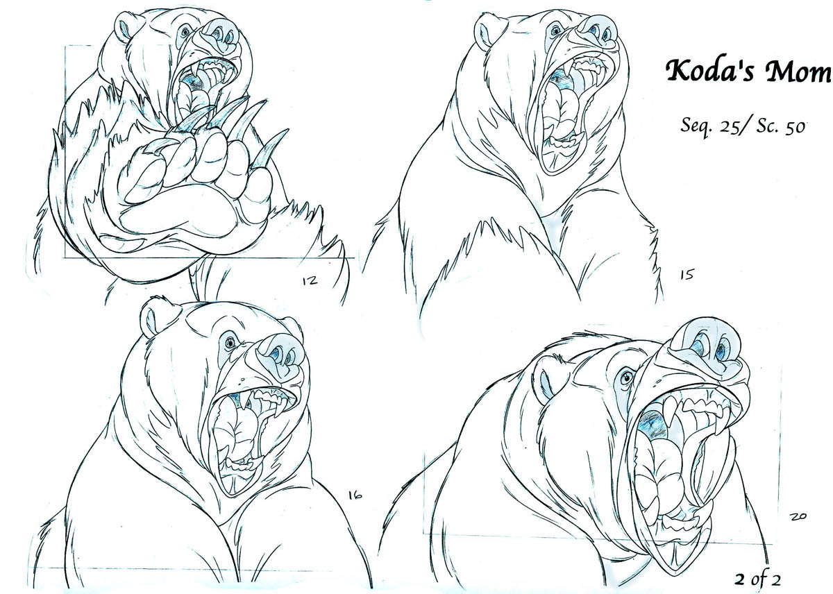Some Clean up Pencil Tests From Brother Bear