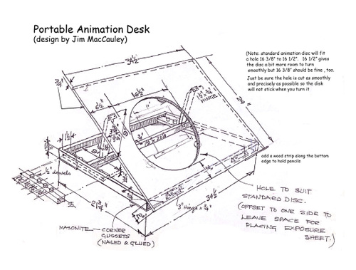 animation desk plans